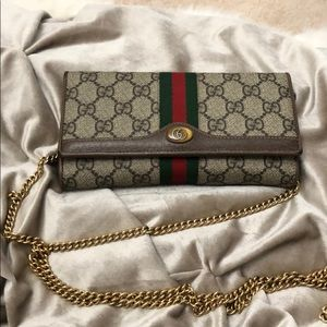 Gucci chain crossbody wallet purse